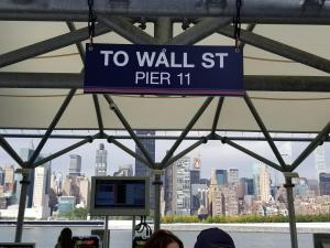 Wall Street Sign at Ferry Stop