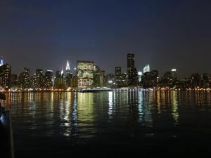 NYC Skyline at Night  from Gantry Park
